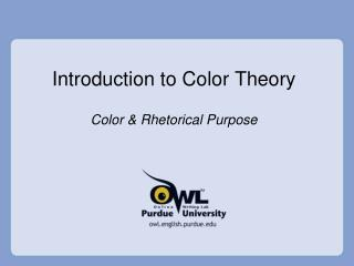 Prologue to Color Theory
