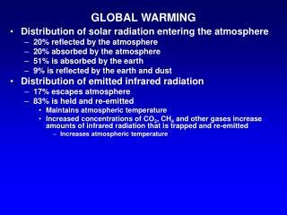 A worldwide temperature alteration
