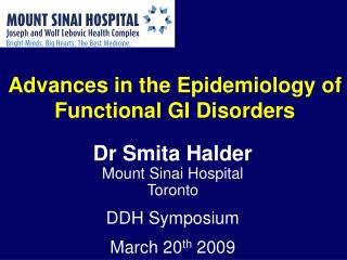 Propels in the Epidemiology of Functional GI Disorders