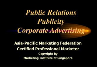 Advertising Publicity Corporate Advertising