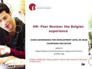 HR-Peer Review: the Belgian experience