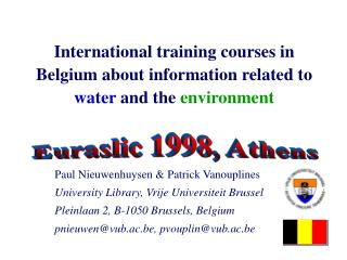 Worldwide instructional classes in Belgium about data ...