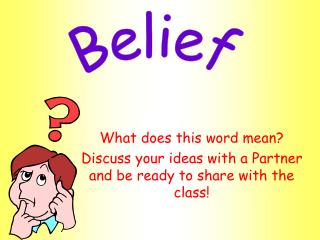 What does this word mean Discuss your thoughts with a Partner and be prepared to impart to the class