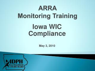 ARRA Monitoring Training