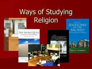 Methods for Studying Religion