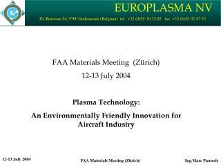 Europlasma - Presentation