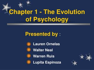 Section 1 - The Evolution of Psychology