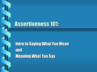 Emphaticness 101: