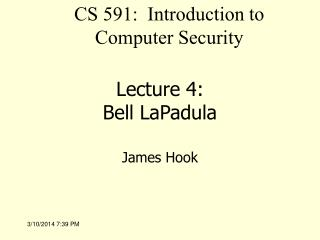 Address 4: Bell LaPadula