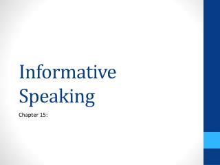 Instructive Speaking