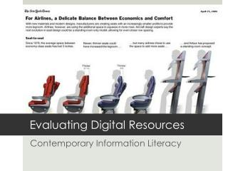 Assessing Digital Resources