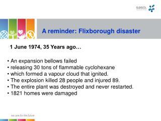 An update: Flixborough fiasco