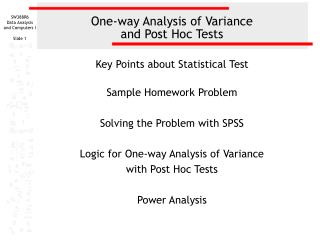 Restricted Analysis of Variance and Post Hoc Tests