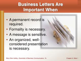 Business Letters Are Important When