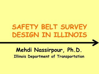 Seat strap SURVEY DESIGN IN ILLINOIS