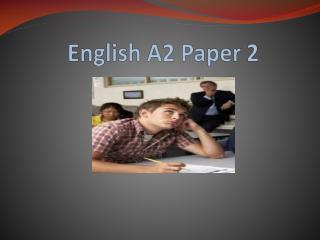 English A2 Assessment