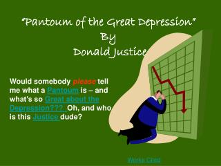 Pantoum of the Great Depression By Donald Justice