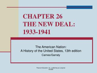 Part 26 THE NEW DEAL: 1933-1941