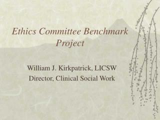 Morals Committee Benchmark Project