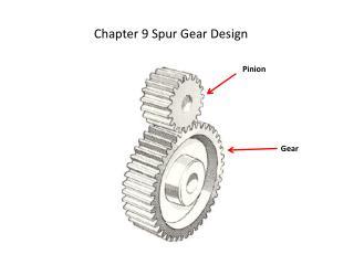 Section 9 Spur Gear Design
