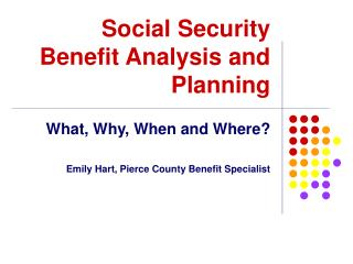 Government managed savings Benefit Analysis and Planning