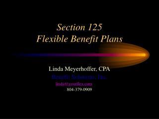 Segment 125 Flexible Benefit Plans