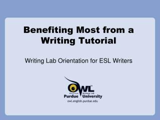 Profiting Most from a Writing Tutorial