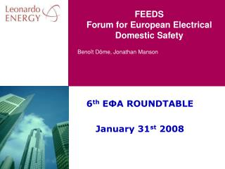 Nourishes Forum for European Electrical Domestic Safety