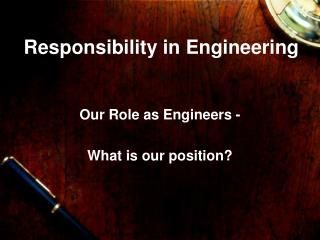 Obligation in Engineering