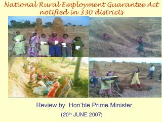 Survey by Hon ble Prime Minister twentieth JUNE 2007