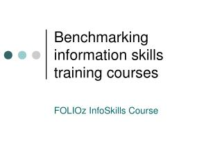 Benchmarking data abilities instructional classes