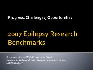 Epilepsy Research Benchmarks