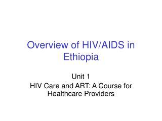 Diagram of HIVAIDS in Ethiopia