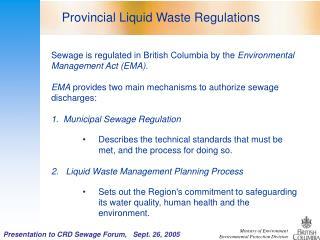 Slide 1 - Victoria Sewage Alliance