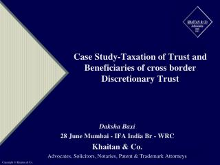 Contextual analysis Taxation of Trust and Beneficiaries of cross fringe ...