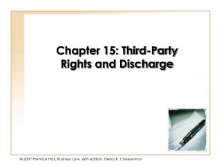 Section 015 - Third-Party Rights Discharge