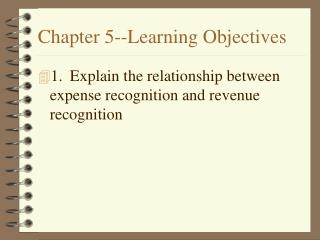 Part 5- - Learning Objectives