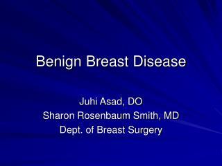 Kind Breast Disease