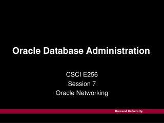 Prophet Database Administration