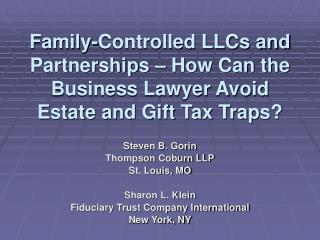 Family-Controlled LLCs and Partnerships