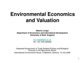 Natural Economics and Valuation