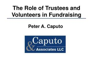 The Role of Trustees and Volunteers in Fundraising
