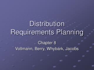Circulation Requirements Planning