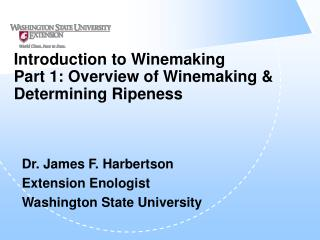 Prologue to Winemaking Part 1: Overview of Winemaking Determining Ripeness