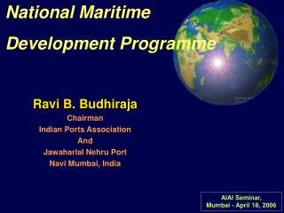 National Maritime Development Program