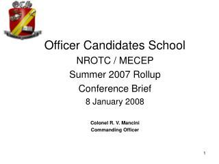 OCS - PNS OCS Brief - Slide 1