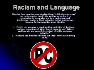 Bigotry and Language