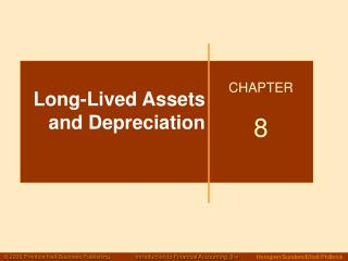 Enduring Assets and Depreciation