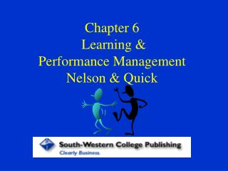 Section 6 Learning Performance Management Nelson Quick