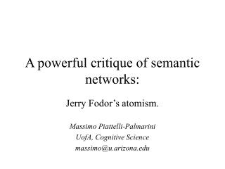 An effective investigate of semantic systems:
